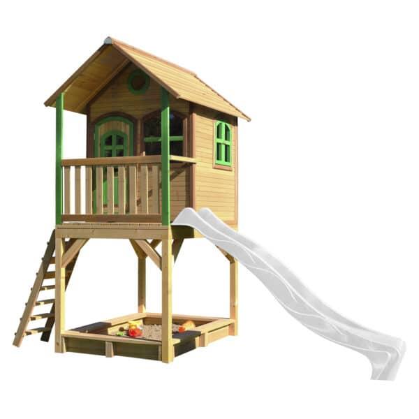 AXI speelhuis Sarah bruin groen glijbaan wit A030.038.90