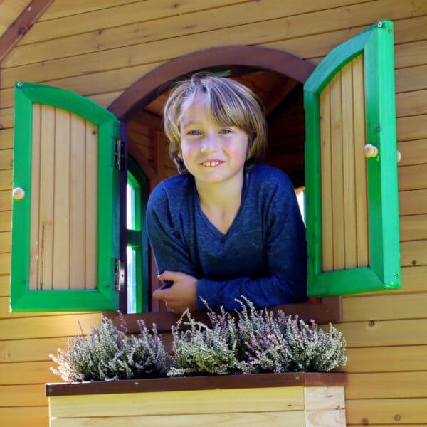 AXI speelhuis Sarah bruin groen sfeer 5