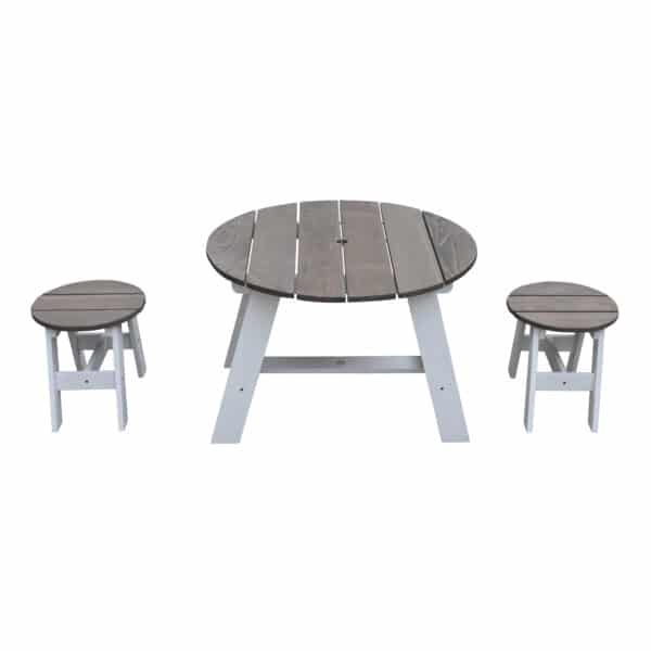 3-delig Picknickset Rond Grijs wit AXI 8717973935384