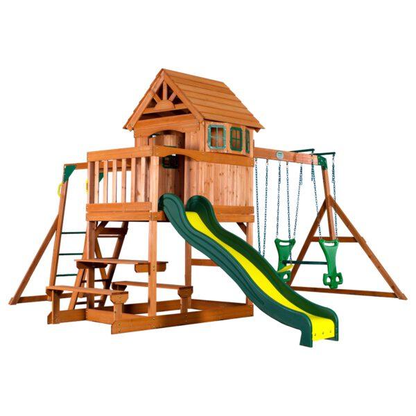 Springboro Speeltoren met Schommels en Glijbaan