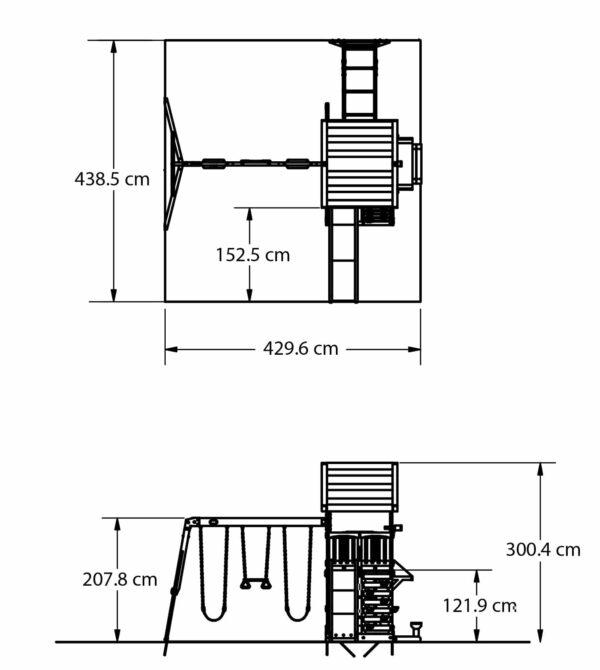 Northbrook Speeltoren (incl. schommels)